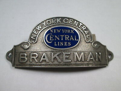 NYCL New York Central Lines BRAKEMAN Unifrom Hat Badge