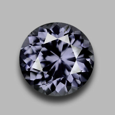 1Cts Round Portugese Cut Natural Grayish Purple Spinel Video In Description