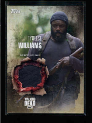 Tyreese Williams 2016 The Walking Dead Authentic Worn Shirt Relic Card Fd3475