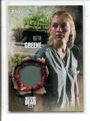 Beth Greene 2016 The Walking Dead Authentic Worn Shirt Relic Card Fd3479