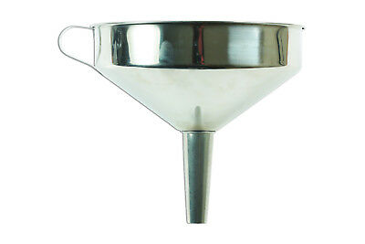 Stainless Steel Funnel 20 cm Diameter SS201 Steel - With Handle and Filter