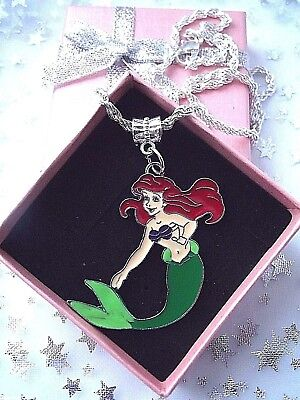 Little Mermaid Princess Ariel Necklace Strong 20 Inch Gift Box,Birthday Party