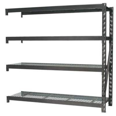 Sealey Heavy Duty Racking Extension Pack with 4 Mesh Shelves 640kg Capacity
