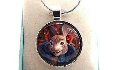Peter Rabbit Photo Beatrix Potter  Necklace 22 Inch Gift Box Birthday Party Bag