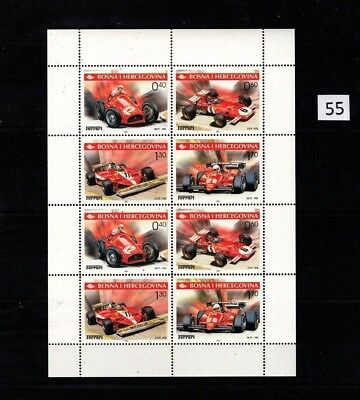 == Bosnia 2001 - Mnh - Sports Cars - Ferrari