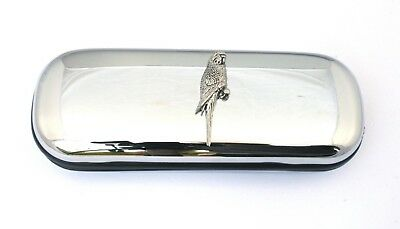 Budgerigar Spectacle Glasses Pen Case FREE ENGRAVING Birds Gifts 045