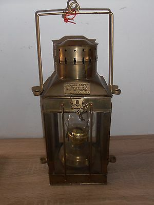 Super Eisenbahner Lampe 1939 - CARGO LIGHT - Great Britain - Messing