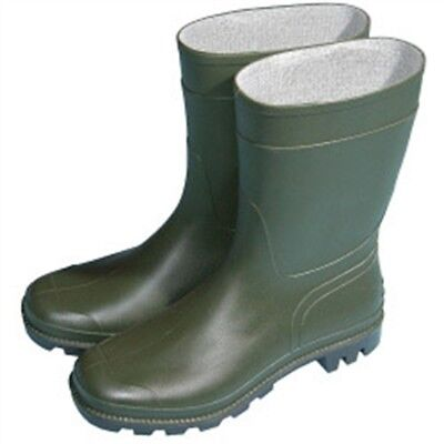 Town & Country Essentials Half Length Wellington Boots - Green, Uk Size 4 -
