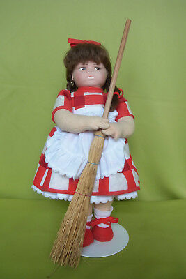alte Filzpuppe - Lenci Doll BP 672 - Made in Italy - ca. 45 cm