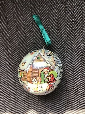 Vintage German Paper Mache Christmas Ornament Candy Container