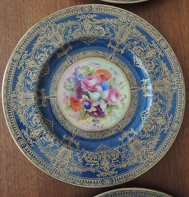 Royal Worcester Vintage Hand Painted Gold Trim Plate Pattern #1331