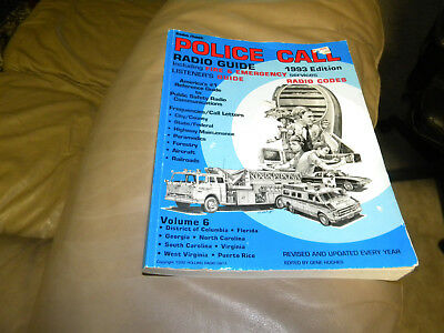 Radio Shack Police Call Plus Beyond Police Call Frequency Guide 1993 Edition