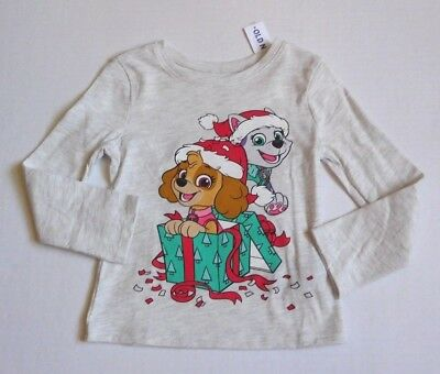 NWT Girls Old Navy Paw Patrol Christmas Long Sleeve Top sz 2t