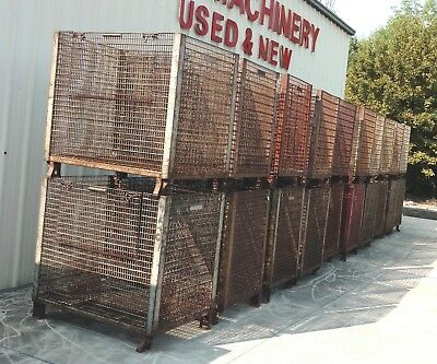 Large Industrial Steel Wire Basket Storage Stackable Container Parts Bins Wt.470