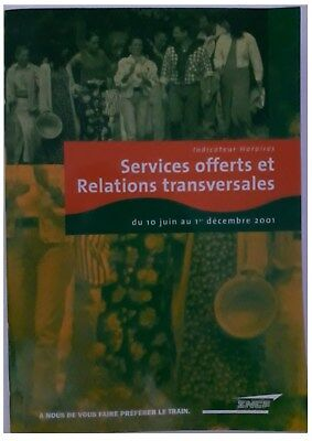 indicateur Sncf 06/2001-12/2001  Services offerts et Relations Transversales