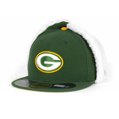 Green Bay Packers Officially licenced NFL 59FIFTY Dog Ear Fitted Cap