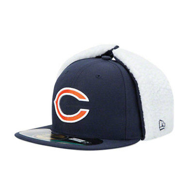 Chicago Bears Officially licenced NFL 59FIFTY Dog Ear Fitted Cap