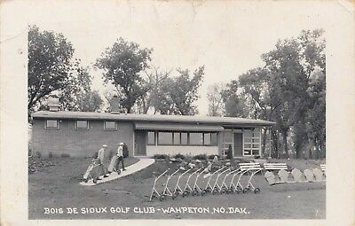 Wahpeton, Nd ~ Rppc ~ Bois De Sioux Golf Club ~ 1960 Beauty