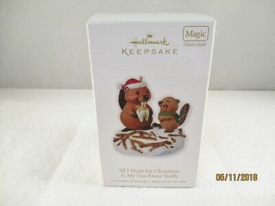 ALL I WANT FOR CHRISTMAS IS MY TWO FRONT TEETH - Sound - HALLMARK ORNAMENT 2010