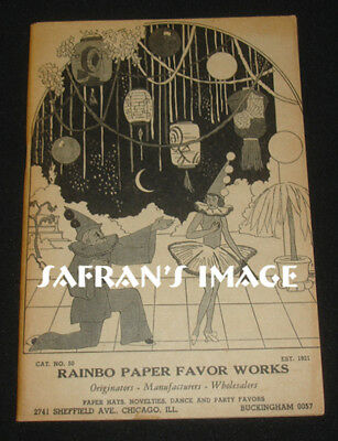 1930s Rainbo Party Favors Catalog MASKS HATS Negro Wigs Costumes Collectors L@@K