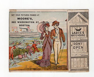 Colorful, Fold-Out AD Moor's Picture Framing, Boston