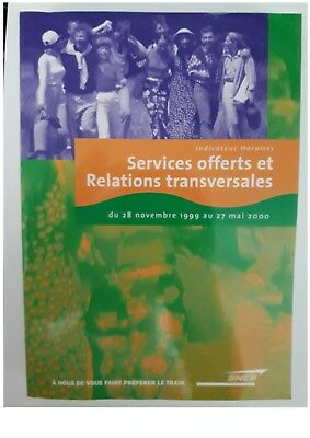 indicateur Sncf 11/1999-05/2000  Services offerts et Relations Transversales