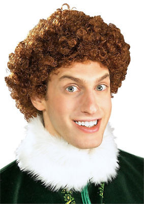 Buddy the Elf Wig Men's Character Movie Afro Costume Accessory Will Farrel New