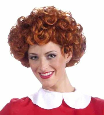 Little Orphan Annie Adult Women Wig Licenced Costume Accessory Red Curls Curly