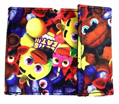 Five Nights at Freddy's Bi-Fold Wallet Sublimated Assorted Characters Brand New