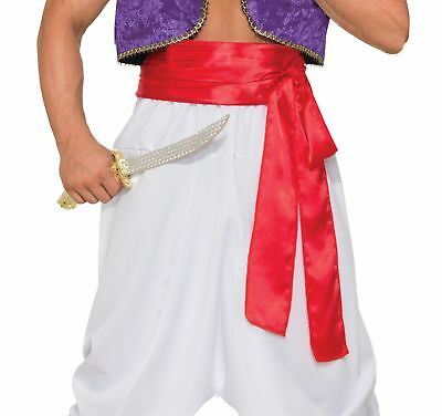 Desert Prince Deluxe Waist Belt Sash Red Adult Pirate Genie Costume Accessory