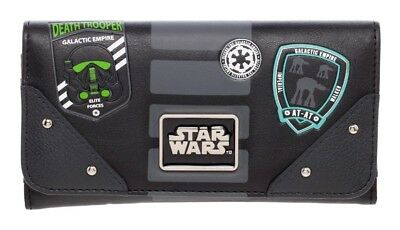 Star Wars Empire Junior Flap Wallet Rogue One Black Faux PU Leather Licensed