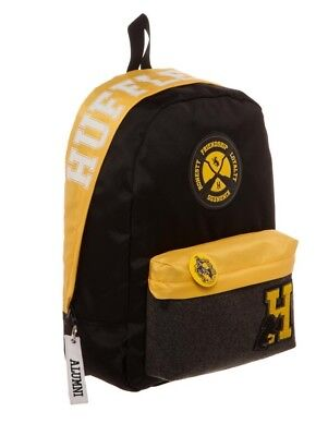 Harry Potter Licensed Hufflepuff House Varsity Patches Backpack School Book Bag
