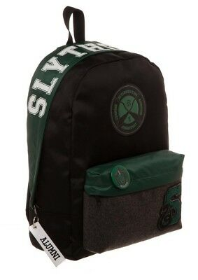 Harry Potter Licensed Slytherin House Varsity Patches Backpack School Book Bag