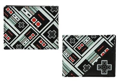 Nintendo Remote Controller Bi-Fold Wallet NES Faux Leather Licensed Video Game
