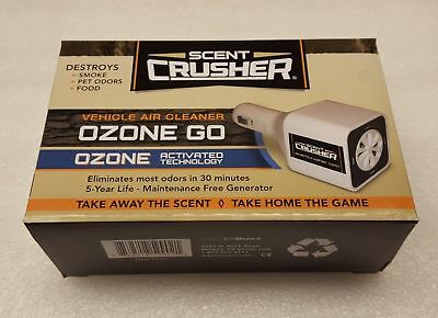 Scent Crusher Ozone Go Vehicle Clean Air Scent Elimination Plug-in Unit - 59902