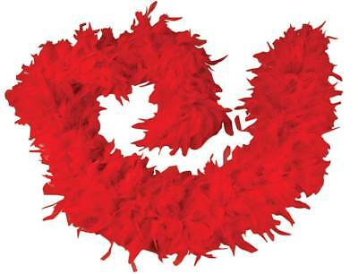 Bright Red 100% Feather Boa 140GM Over 6 ft Costume Accessory Burlesque Fashion