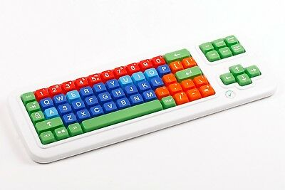 Clevy Contrast Wired Keyboard - High Contrast Uppercase Colorful Keys
