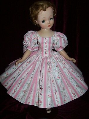 Wallpaper Print Cotton Dress With Petticoat  ~ For Madame Alexander Cissy Doll