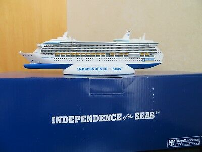 """New in Box--Royal Caribbean Independence Of The Seas Resin Model 11"""" cruise ship"""