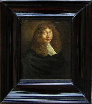 English School Authentic 17th Century Old Master Portrait Oil Painting NO RES.