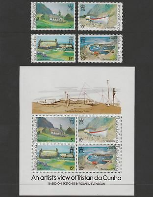 Tristan da Cunha 1978-80 Queen Elizabeth II Selection inc Min Sheets UM Mint