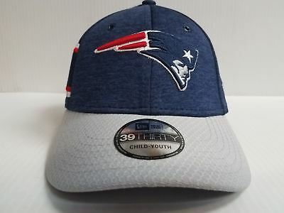 763c59e10fb110 YOUTH New England Patriots Cap Era 39Thirty Stretch Fit 2018 Home Sideline  Hat