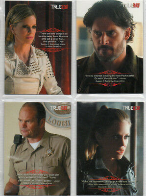 True Blood Archives - Lot Of 4 different Quotable chase cards EX Rittenhouse