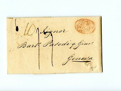 Italy Stampless Cover 1833 Genoa>Naples Europe Cities+Business letter A Degas