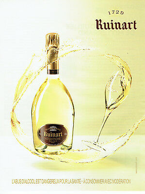 Publicité Advertising 088  2010   champagne Ruinart blanc de blancs