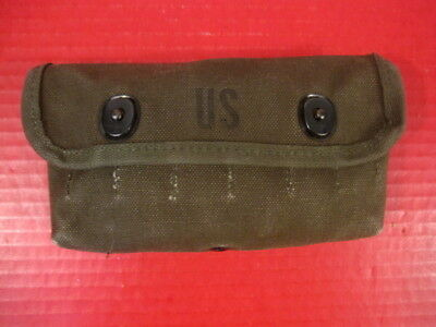 post-Vietnam US Army Canvas Shotgun 12GA Ammunition Shell Pouch - 1983 Unissued