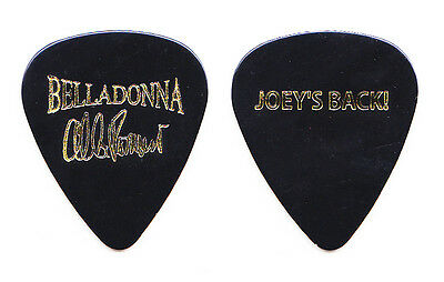 Belladonna Al Romano Signature Joey's Back Black Guitar Pick - 2010 Tour Anthrax