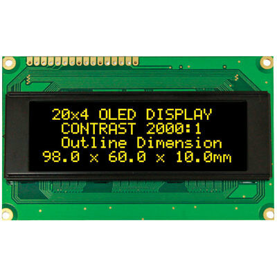 Winstar WEH002004A 20x4 OLED Display, Yellow