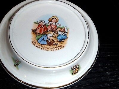 Antique Royal Baby Plate The  Tiny Todkins Dated 1905 Great Graphics 9""