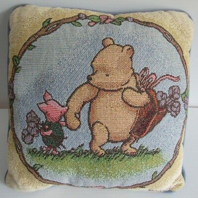 Disney Classic Pooh Tapestry Pillow Pooh Piglet Blue